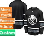 Mens Women Youth Adidas Buffalo Sabres Black Custom Made 2019 All Star Jersey