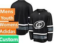 Mens Women Youth Adidas Nhl Carolina Hurricanes Black Custom Made 2019 All Star Jersey