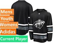 Mens Women Youth Adidas Minnesota Wild Black Current Player 2019 All Star Jersey