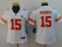 Women Nfl Kansas City Chiefs #15 Patrick Mahomes White Vapor Untouchable Limited Player Jersey