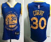 Kids Nba Nike Golden State Warriors #30 Stephen Curry Blue Jersey