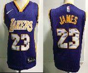 Kids Nba Nike Los Angeles Lakers #23 Lebron James Purple Jersey