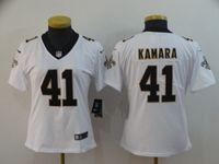 Women Nfl New Orleans Saints #41 Alvin Kamara White Vapor Untouchable Limited Player Jersey