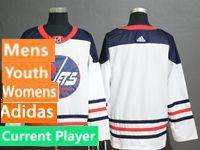 Mens Women Youth Adidas Winnipeg Jets White Current Player Fanatics Branded Alternate Jersey