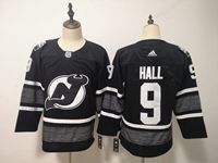 Mens Nhl New Jersey Devils #9 Taylor Hall Adidas Black 2019 All Star Jersey