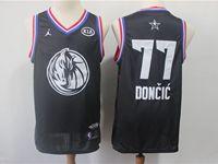 Mens Nba Dallas Mavericks #77 Luka Doncic Black 2019 All-star Jordan Brand Swingman Jersey