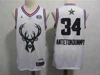 Mens Nba Milwaukee Bucks #34 Giannis Antetokounmpo White 2019 All-star Jordan Brand Swingman Jersey