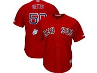 Mens Mlb Boston Red Sox #50 Mookie Betts Red 2019 Spring Training Cool Base Jersey