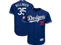 Mens Majestic Los Angeles Dodgers #35 Cody Bellinger Blue 2019 Spring Training Flex Base Jersey