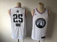 Mens Nba Minnesota Timberwolves #25 Derrick Rose White 2019 All-star Jordan Brand Swingman Jersey