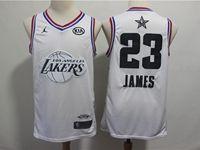 Mens Nba Los Angeles Lakers #23 Lebron James White 2019 All-star Jordan Brand Swingman Jersey
