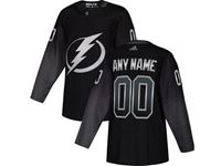Mens  Nhl Tampa Bay Lightning Blank Black Alternate Breakaway Player Jersey