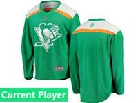 Mens Nhl Pittsburgh Penguins Green 2019 St. Patrick's Day Current Player Jersey