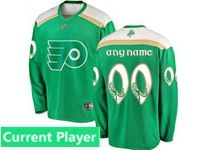 Mens Nhl Philadelphia Flyers Green 2019 St. Patrick's Day Current Player Jersey