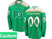 Mens Nhl Philadelphia Flyers Green 2019 St. Patrick's Day Custom Made Jersey