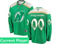 Mens Nhl New Jersey Devils Green 2019 St. Patrick's Day Current Player Jersey