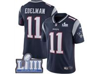 Mens New England Patriots #11 Julian Edelman Blue 2019 Super Bowl Liii Bound Vapor Untouchable Limited Jersey