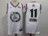 Mens Nba Boston Celtics #11 Kyrie Irving White 2019 All-star Jordan Brand Swingman Jersey