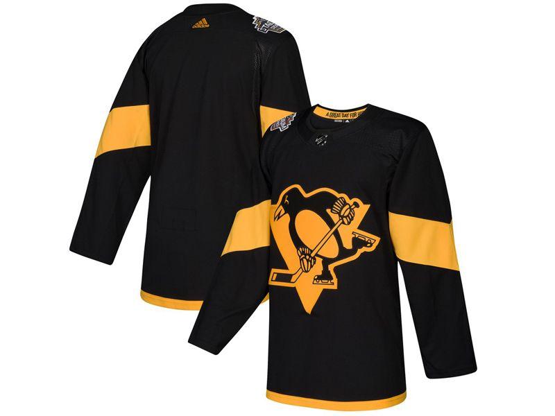 Mens Women Youth Adidas Pittsburgh Penguins Custom Made Black 2019 Stadium Series Jersey