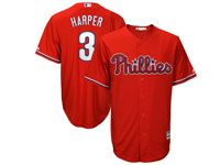 Mens Womens Youth Mlb Philadephia Phillies #3 Bryce Harper Red Cool Base Jersey