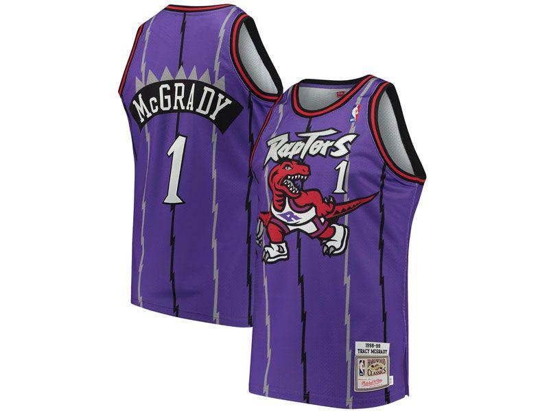 Mens Nba Toronto Raptors Custom Made Mitchell&ness Hardwood Classics Purple Jersey