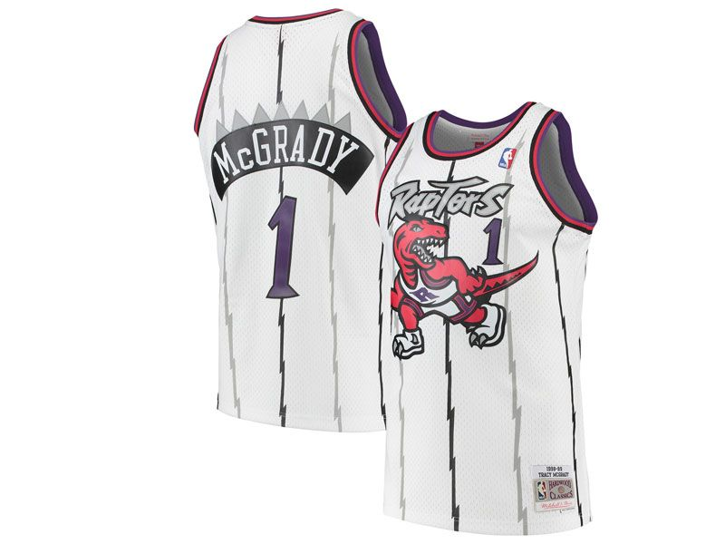 Mens Nba Toronto Raptors Custom Made Mitchell&ness Hardwood Classics White Jersey