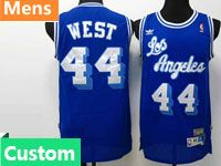 Mens Nba Los Angeles Lakers Custom Made Adidas Hardwood Classics Purple Jersey