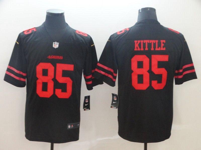 Mens Nfl San Francisco 49ers #85 George Kittle Black Vapor Untouchable Limited Jersey