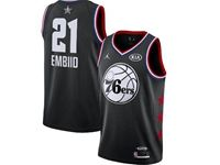 Mens Nba Philadelphia 76ers #21 Joel Embiid Black 2019 All-star Jordan Brand Swingman Jersey