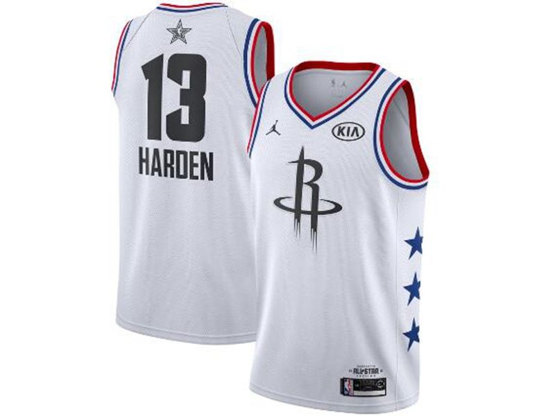 Mens Nba Houston Rockets #13 James Harden White 2019 All-star Jordan Brand Swingman Jersey