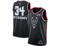 Mens Nba Milwaukee Bucks #34 Giannis Antetokounmpo Black 2019 All-star Jordan Brand Swingman Jersey
