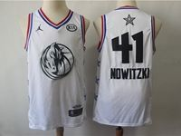 Mens Nba Dallas Mavericks #41 Dirk Nowitzki White 2019 All-star Jordan Brand Swingman Jersey