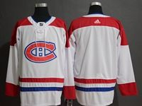 Mens Montreal Canadiens Canadiens Blank White Adidas Jersey