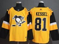 Mens Nhl Pittsburgh Penguins #81 Phil Kessel Adidas Yellow Jersey