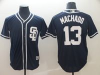 Mens Majestic San Diego Padres #13 Manny Machado Navy Cool Base Player Jersey  ( Sd )
