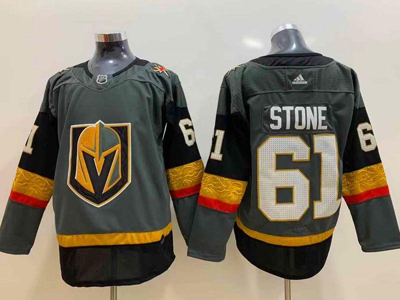 Mens Nhl Vegas Golden Knights #61 Mark Stone Gray Adidas Jersey