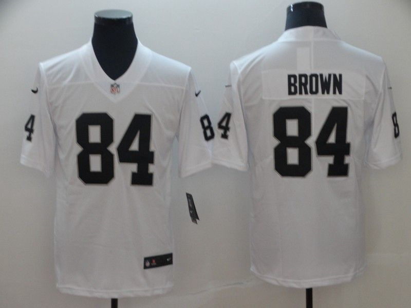 Mens Women Youth Nfl Oakland Raiders #84 Antonio Brown White Vapor Untouchable Limited Player Jersey