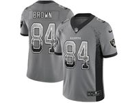 Mens Nfl Oakland Raiders #84 Antonio Brown Gray Drift Fashion Vapor Untouchable Limited Jersey