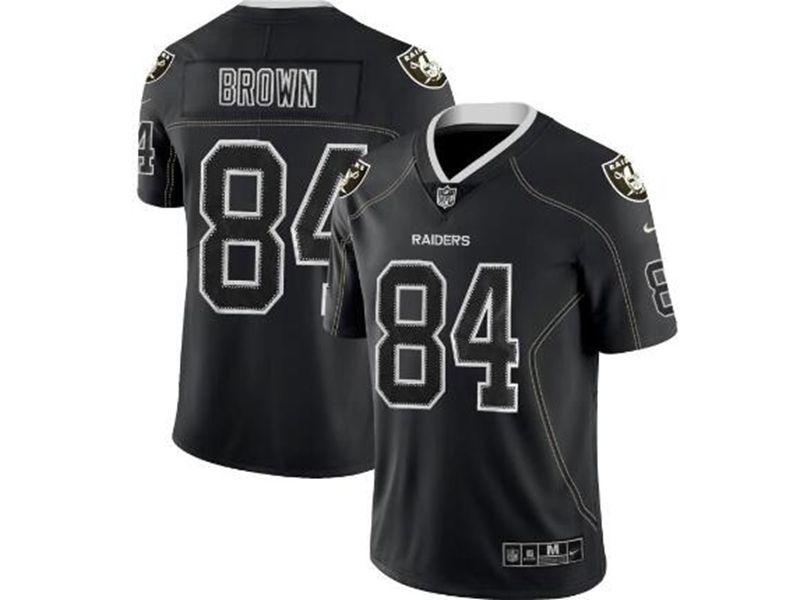 Mens Nfl Las Vegas Raiders #84 Antonio Brown Lights Out Black Vapor Untouchable Limited Jersey