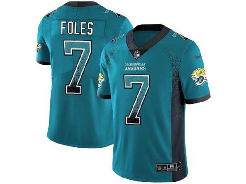 Mens Nfl Jacksonville Jaguars #7 Nick Foles Green Drift Fashion Vapor Untouchable Limited Jersey