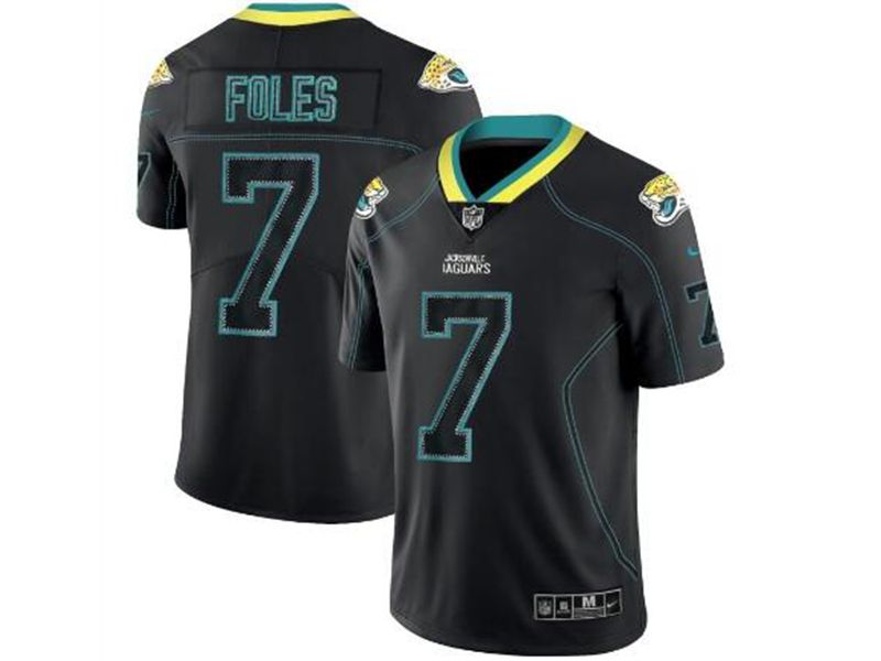 Mens Nfl Jacksonville Jaguars #7 Nick Foles Lights Out Black Vapor Untouchable Limited Jersey