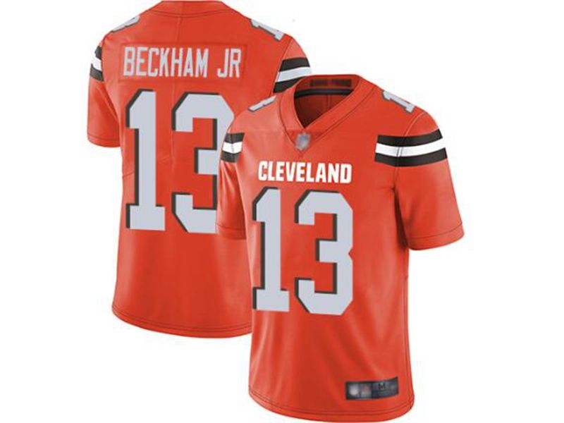 Mens Women Youth Nfl Cleveland Browns #13 Odell Beckham Jr Orange Vapor Untouchable Limited Nike Jersey