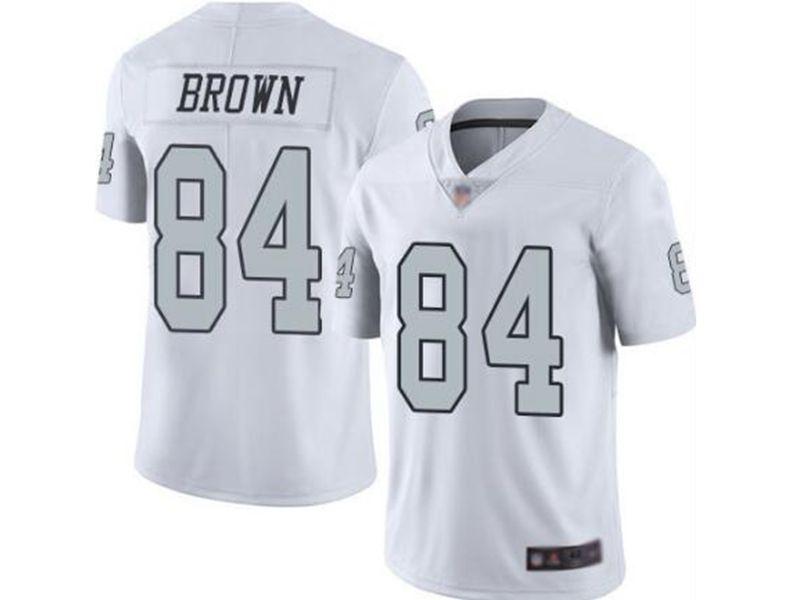 Mens Women Youth Nfl Las Vegas Raiders #84 Antonio Brown White Vapor Untouchable Color Rush Limited Player Jersey