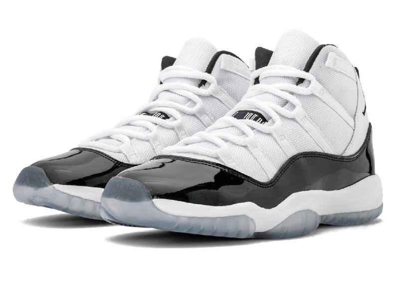 Men Nike Air Jordan 11 Concord Basketball Shoes Colour White