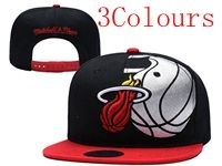 Mens Nba Miami Heat Black Hats