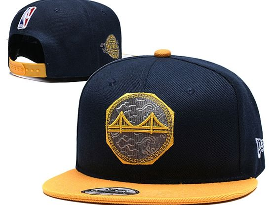Mens Nba Golden State Warriors Blue And Orange Snapback Hats