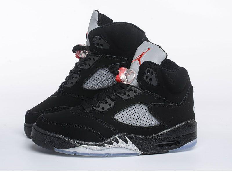 Men Nike Air Jordan 5 Basketball Shoes Colour Black Ec8489730