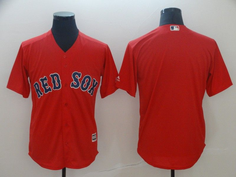 Mens Mlb Boston Red Sox Blank Red Cool Base Jersey