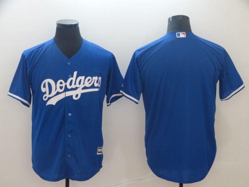 Mens Mlb Los Angeles Dodgers Blank Blue Cool Base Jersey
