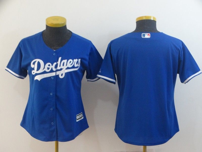 Women Mlb Los Angeles Dodgers Blank Blue Cool Base Jersey